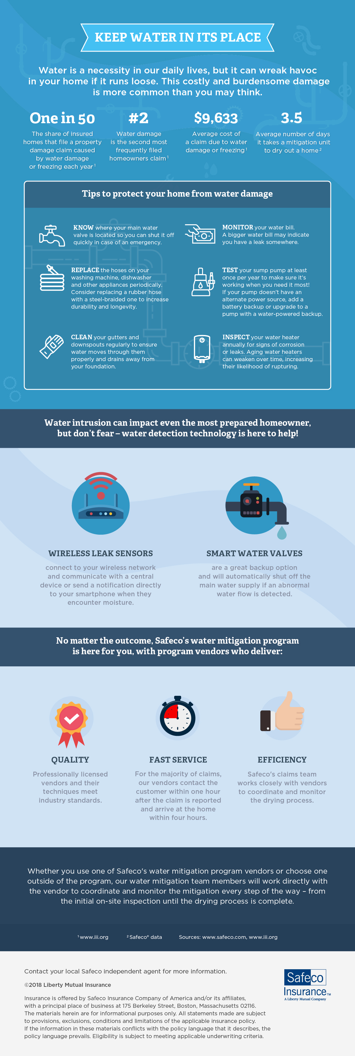 Water damage infographic